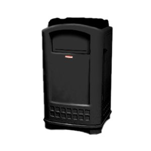 Plaza Container w/Tray Top 50G - Black, 1/EA