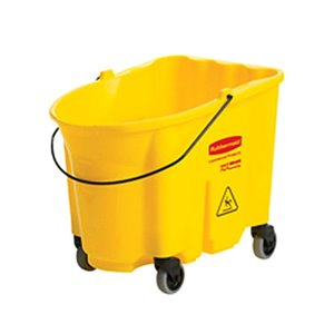Wave Brake 2.0 - Bucket w/Casters Only 35qt - Yellow, 1/EA