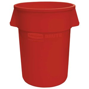 Brute Container Straightwall 32G - Red, 6/EA