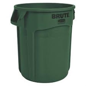Brute Container Vented 32G - Dark Green, 6/EA
