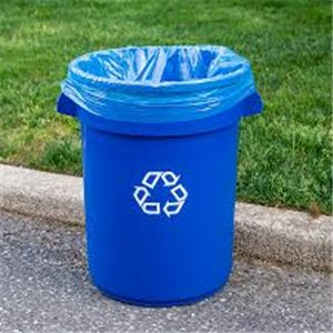 Brute Container Vented 32G Recycling - Blue, 6/EA