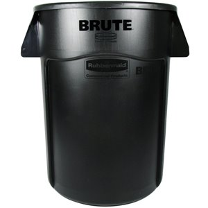Brute Container Vented 44G - Black, 4/EA