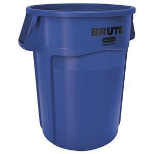 Brute Container Vented 44G - Blue, 4/EA