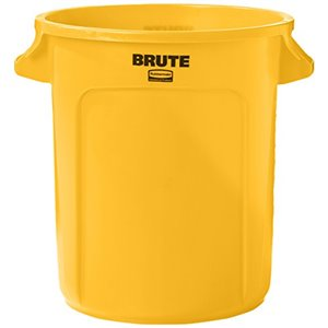 Brute Container Vented 44G - Yellow, 4/EA