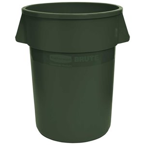 Brute Container Vented 55G - Dark Green, 3/EA