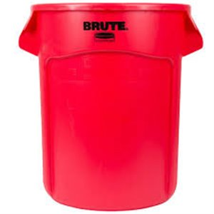 Brute Container Vented 55G - Red, 3/EA