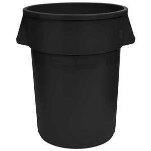 Brute Container Straightwall Unbrand 55G - Black, 3/EA