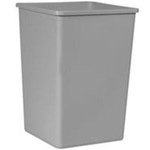 Square Waste Container 35G - Gray, 4/EA