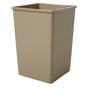 Square Waste Container 35G - Beige, 4/EA