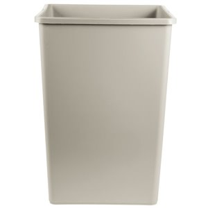 Square Waste Container 23G - Gray, 4/EA