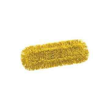 """Maximizer Dust Mop Pad 24"""" - Yellow, 12/CS"""