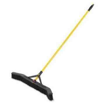 """Maximizer Push to Centre Broom 36"""" Multi-Purpose Bristle - Black, 6/EA"""