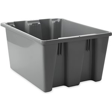"Palletote Box - Stack & Nest 19.5x15.5x10"" - Gray, 10/EA"