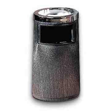 Duramold Smoking Urn Ash/Trash w/Metal Ashtray & Metal Liner - Black, 1/EA