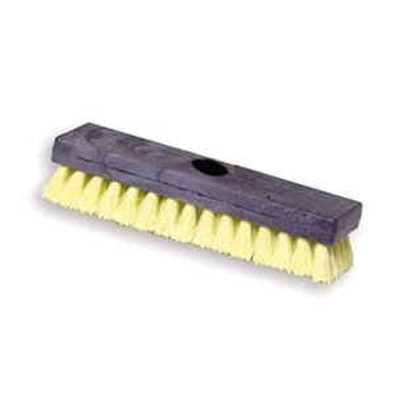 "Deck Brush - 10"" (25.4cm) Plastic Block,  Palmyra Fill, 6/EA"