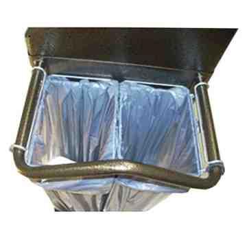 Dual Waste Wire Bag Holders, 6/EA