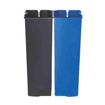 Dual Liner For Slim Jim Metal Frontstep 24G - Black/Blue, 1/EA