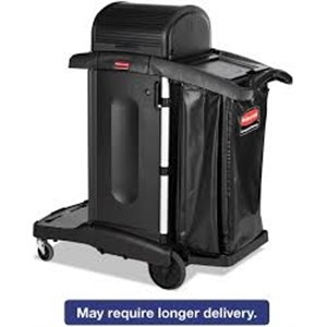 Executive Janitor Cleaning Cart High Security - Black[9T75], 1/EA