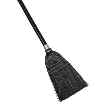 Executive Lobby Broom w/Wood Handle - Black, 12/EA