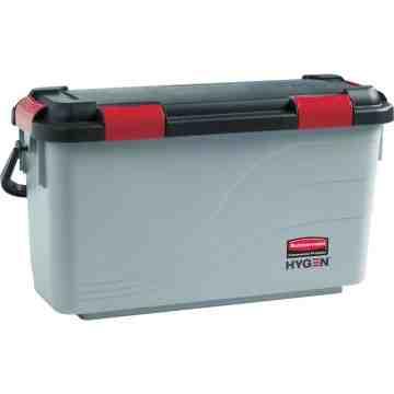 Executive Hygen Microfiber Charging Mop Bucket - Gray, 3/EA