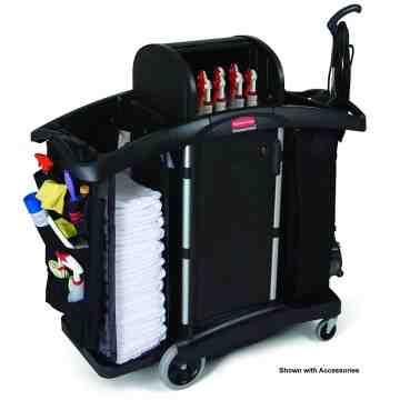 Executive Housekeeping Compact Cart, High Security, 1/EA
