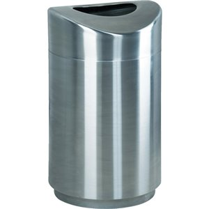 Executive Eclipse Open Top Metal Refuse - Stainless Steel ,  1 / EA