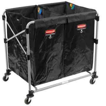Executive 8-Bushel Collapisable Multistream X-Cart (Two 4-Bushel Bags) Black, 1/EA