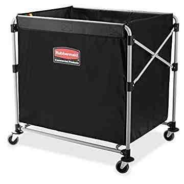 Executive 8-Bushel Collapisable Basket X-Cart Black, 1/EA