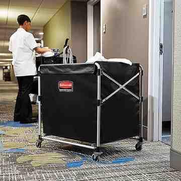 Executive 8-Bushel Collapisable Basket X-Cart Bag - Black, 2/EA