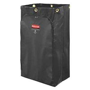 Executive 24G Janitorial Cleaning Cart Vinyl Bag - Traditional - Black[1861442], 4/EA
