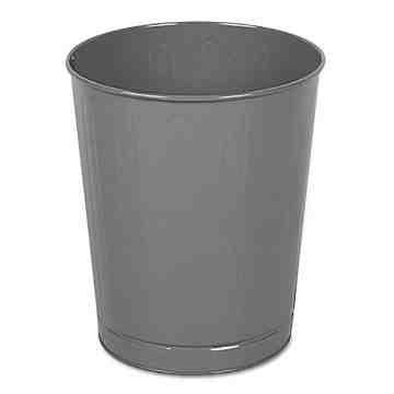 Steel Open Top Wastebasket 26 QT-Gray ,  6 / CS