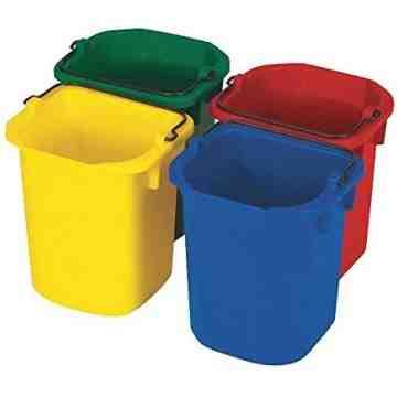 Sanitizing Pails 5qt - Yellow, 4/EA