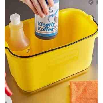 Sanitizing Caddy 10qt for NG J Carts - Yellow, 6/EA