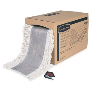 "Select-a-Length Dust Mop 40"" Roll - White, 1/CS"