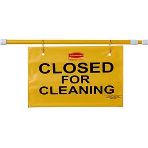 """Site Safety Hanging Sign  """"Closed For Cleaning"""" (English only), 6/EA"""