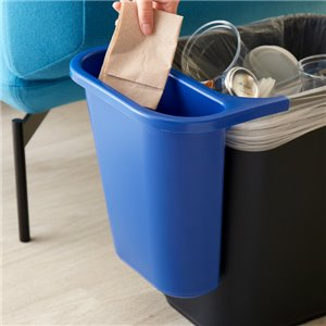 Side Bin Recycling Container Fits 2956/2957/2543 - Blue, 12/EA