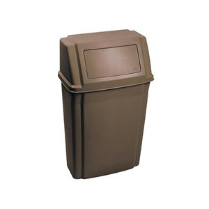 Slim Jim Wall Mounted Waste Container 15G - Brown, 1/EA