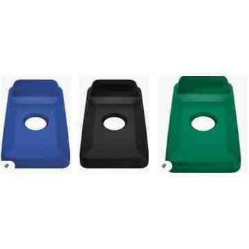 Slim Jim Vertical Lid Bottles Cans - Blue, 4/EA