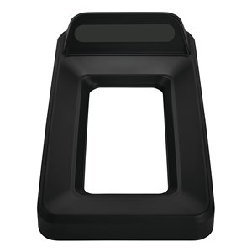 Slim Jim Vertical Lid Open Top - Black, 4/EA