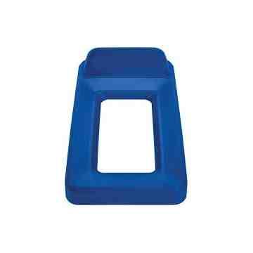 Slim Jim Vertical Lid Open Top - Blue, 4/EA