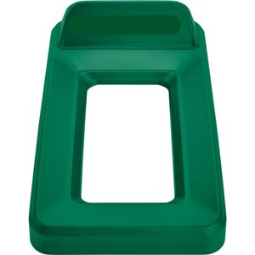 Slim Jim Vertical Lid Open Top - Green, 4/EA