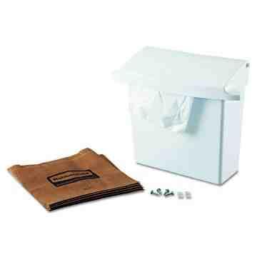 Sanitary Napkin Receptacle w/Rigid Liner - White, 1/EA