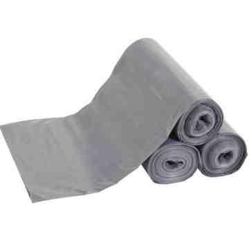 """Polyliner Bags - 43x47"""" - 56G Cap-100pcs - Gray, 1/CS"""