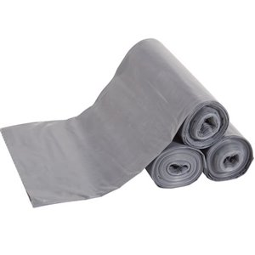 """Polyliner Bags - 28x39"""" - 23G Cap-300pcs - Gray, 1/CS"""