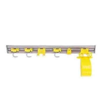 "Closet Organizer/Tool Holder - 34"" - Gray, 4/EA"