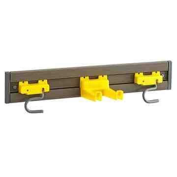 "Closet Organizer/Tool Holder - 18"" - Gray, 6/EA"
