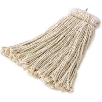 Premuim Bolt-on Cut End Cotton Mop 24oz - White, 12/EA