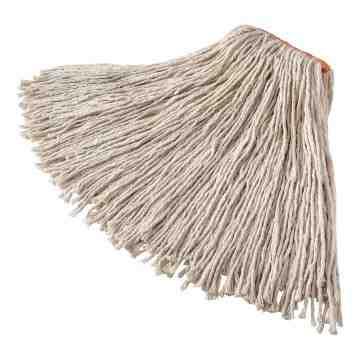 "Premium 8Ply Cut End Cotton Mop 24oz 1"" - White, 12/EA"