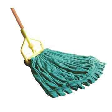 "Microfiber WebFoot Tube Mop Medium 5"" - Green, 6/EA"
