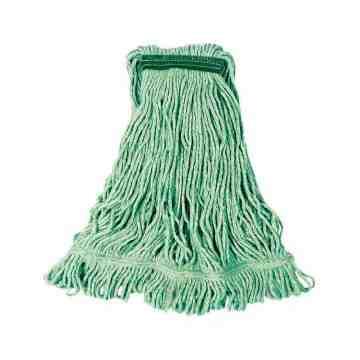 "Wet Mop - Super Stitch Looped End Blend - 20oz 1"" - Green, 6/EA"